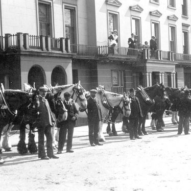 Leamington Spa.  Corporation cart horse parade