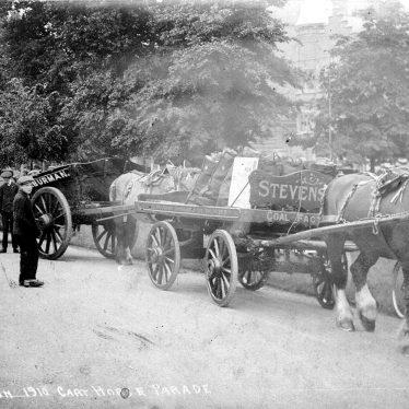 Leamington Spa.  Cart horse parade