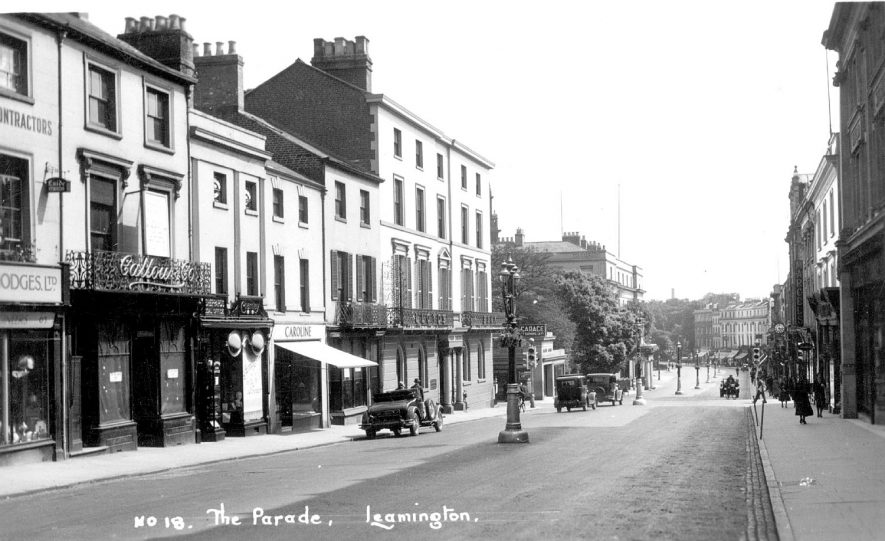 View looking down The Parade, Leamington Spa.  1920s |  IMAGE LOCATION: (Warwickshire County Record Office)