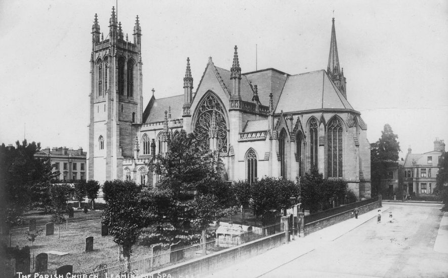 All Saint's Church, Leamington Spa, from the south east.  1900s |  IMAGE LOCATION: (Warwickshire County Record Office)