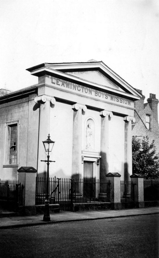 The Leamington Boy's Mission, a Roman Catholic chapel built in 1828, George Street, Leamington Spa.  1930s |  IMAGE LOCATION: (Warwickshire County Record Office)