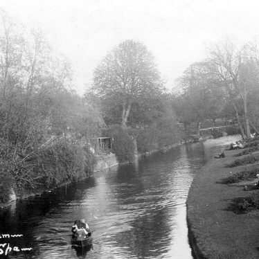 Leamington Spa.  York Walk, River Leam