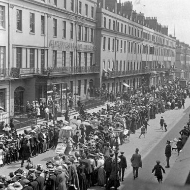 Leamington Spa.  Parade, procession