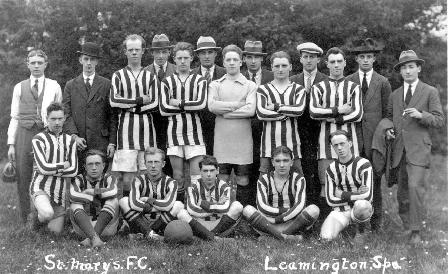 St Mary's football club team photograph, Leamington Spa.  1920s |  IMAGE LOCATION: (Warwickshire County Record Office)