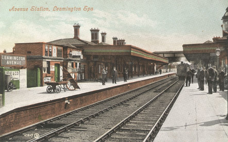 Avenue railway station and staff, Leamington Spa.  1900s |  IMAGE LOCATION: (Warwickshire County Record Office)