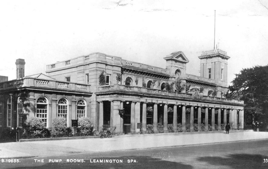 Front view of The Pump Rooms, Leamington Spa.  1920s |  IMAGE LOCATION: (Warwickshire County Record Office)