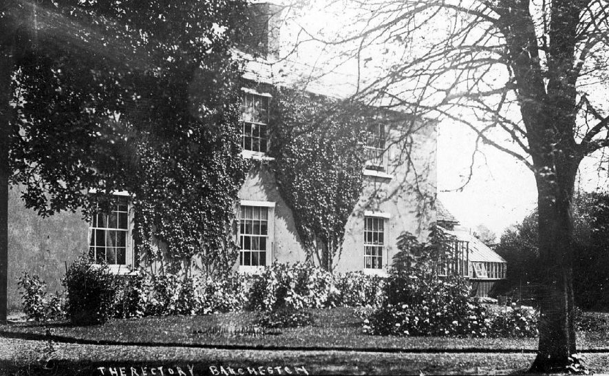 Barcheston. The rectory with garden and conservatory.  1910s |  IMAGE LOCATION: (Warwickshire County Record Office)
