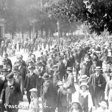 Leamington Spa.  Oddfellows' Procession