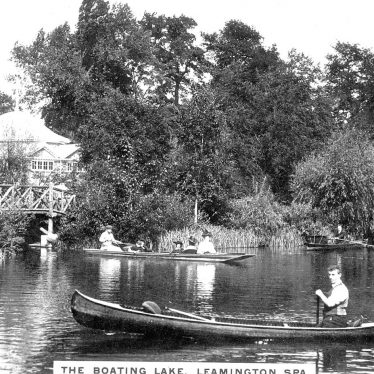 Leamington Spa.  Jephson Gardens, boating lake