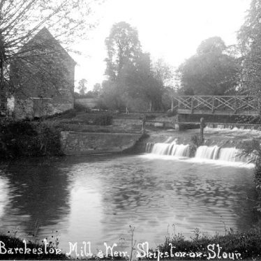 Barcheston.  Mill and weir