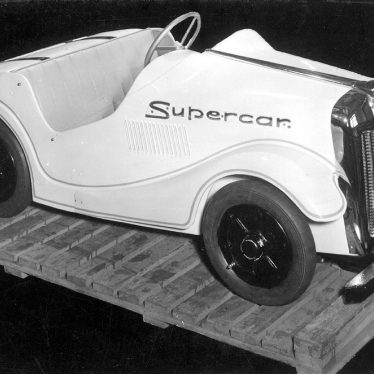 Leamington Spa.  Supercar model for fairground