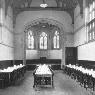 Leamington Spa.  College dining hall
