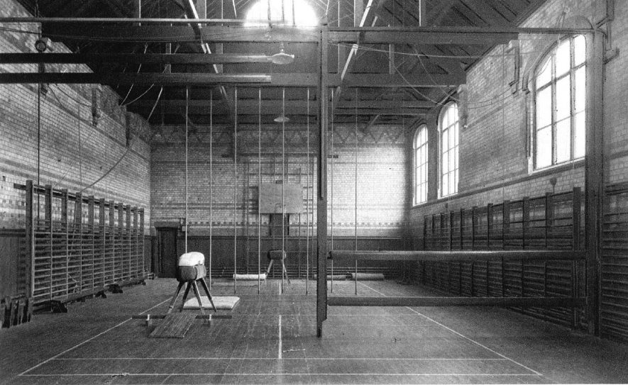 Leamington College Gymnasium.  1920s    IMAGE LOCATION: (Warwickshire County Record Office)