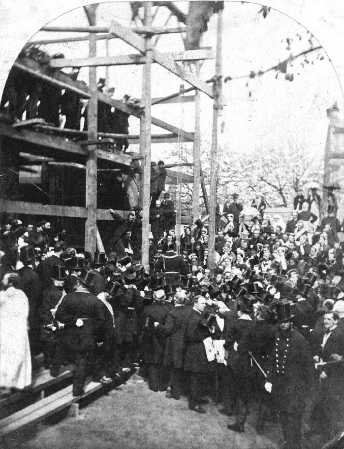 Laying of foundation stone of Parish Church, Leamington Spa.  1867 |  IMAGE LOCATION: (Warwickshire County Record Office)
