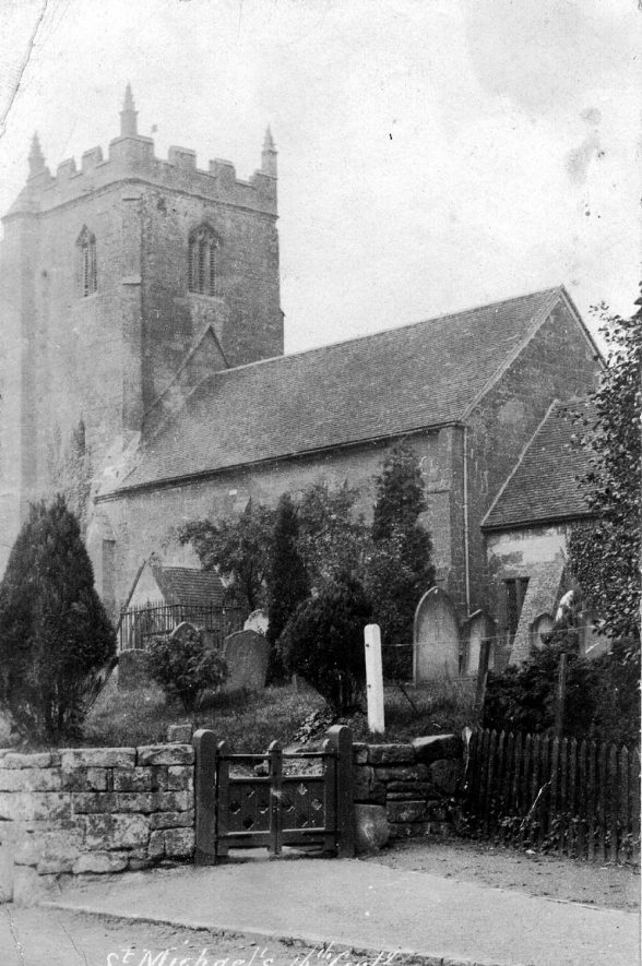St Michael's Church, Weston-under-Wetherley.  1910s |  IMAGE LOCATION: (Warwickshire County Record Office)