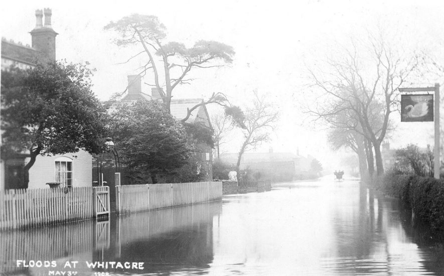 Flooding in Nether Whitacre.  1908 |  IMAGE LOCATION: (Warwickshire County Record Office)