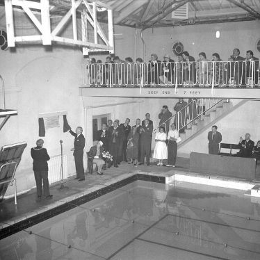 Leamington Spa.  Anthony Eden reopening swimming baths