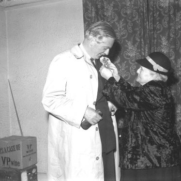 Leamington Spa.  Anthony Eden receiving a rosette