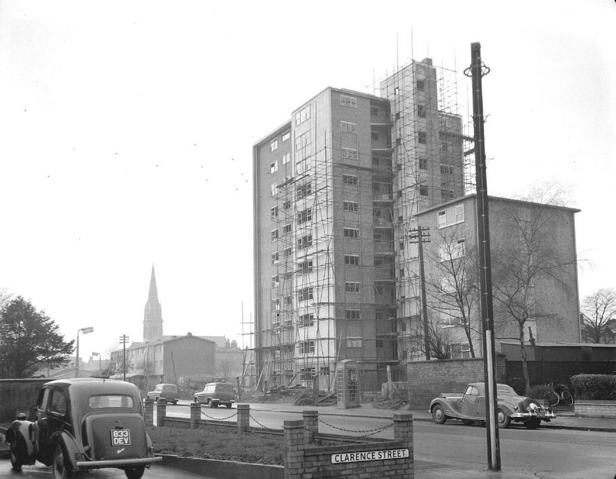 Brunswick Street flats, Leamington Spa.  1957 |  IMAGE LOCATION: (Warwickshire County Record Office)