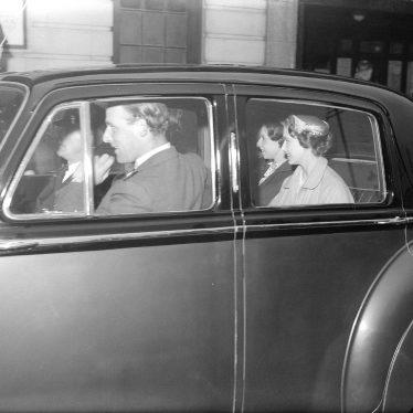 Leamington Spa.  Princess Margaret's visit
