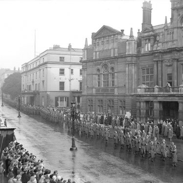 "Leamington Spa.  Civil defence ""Stand-down"" Parade"