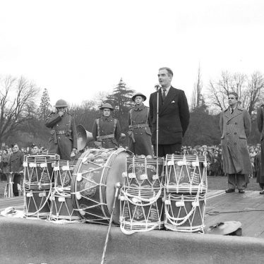 Leamington Spa.  Anthony Eden at Civil Defence parade