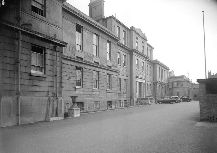 The Warneford Hospital, front exterior, Leamington Spa.  30th April 1956 |  IMAGE LOCATION: (Warwickshire County Record Office)