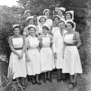 Leamington Spa.  Group of nurses