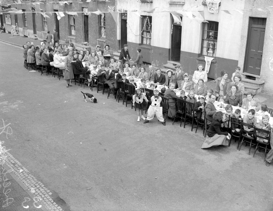 Althorpe Street party for Elizabeth II Coronation, Leamington Spa.  June 1953 |  IMAGE LOCATION: (Warwickshire County Record Office)