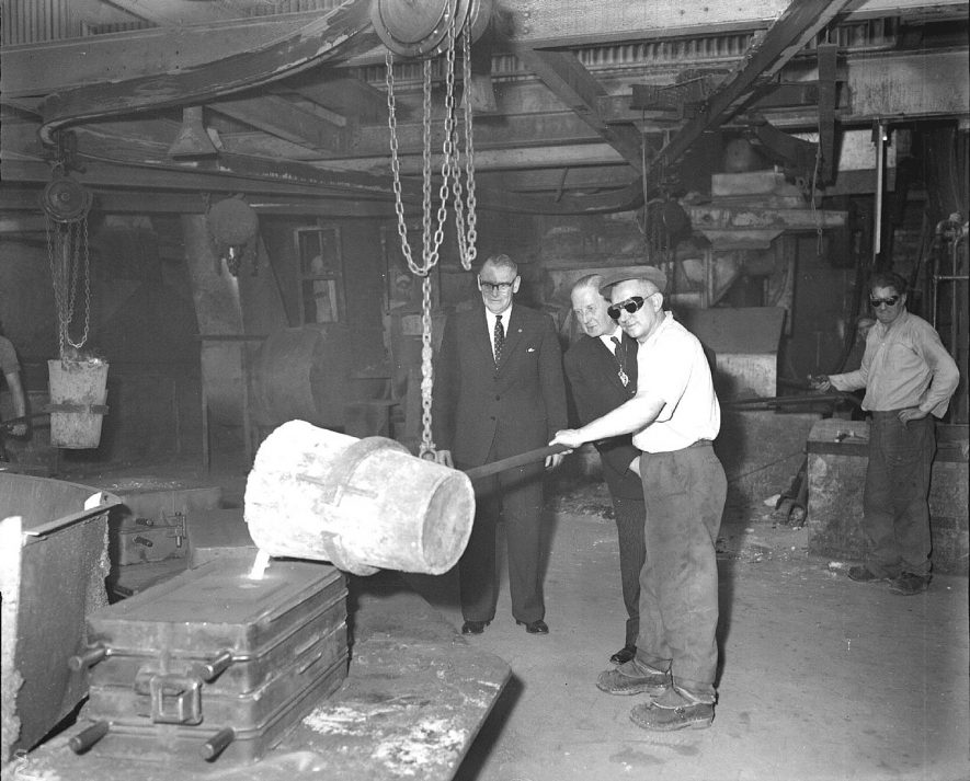 Mayoral visit to the Ford Imperial Foundry, Leamington Spa.  1961 |  IMAGE LOCATION: (Warwickshire County Record Office)