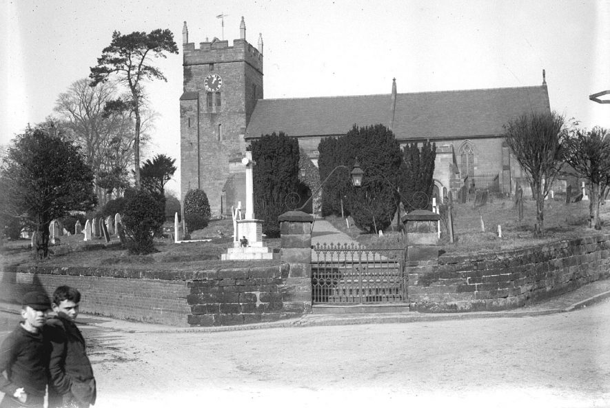Exterior of Cubbington church from Church Hill, Cubbington.  1930s |  IMAGE LOCATION: (Warwickshire County Record Office)
