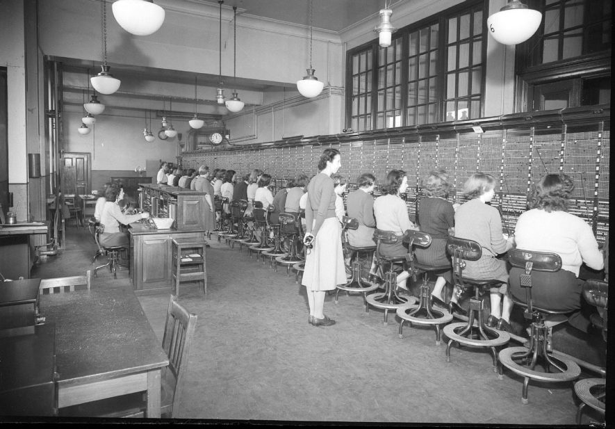 Telephone exchange, Leamington Spa.  1949 |  IMAGE LOCATION: (Warwickshire County Record Office)