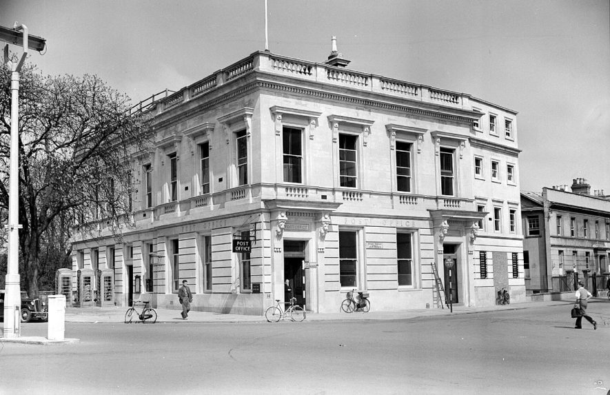 Post Office in Priory Terrace, Leamington Spa.  1952 |  IMAGE LOCATION: (Warwickshire County Record Office)