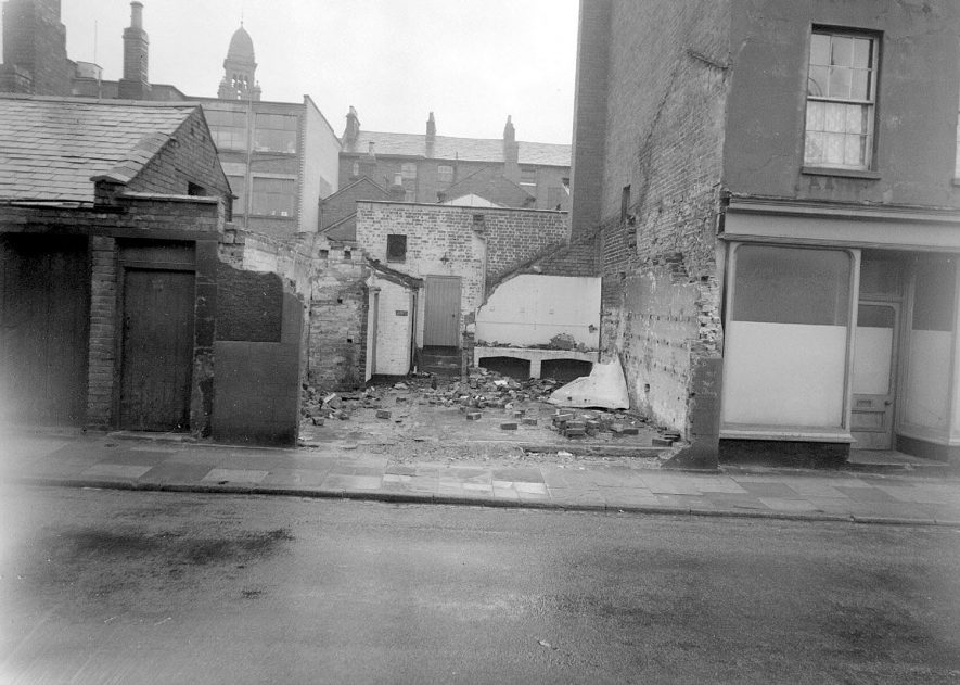 Site of Aylesford Arms Pub, now demolished, Bedford Street, Leamington Spa.  1958 |  IMAGE LOCATION: (Warwickshire County Record Office)