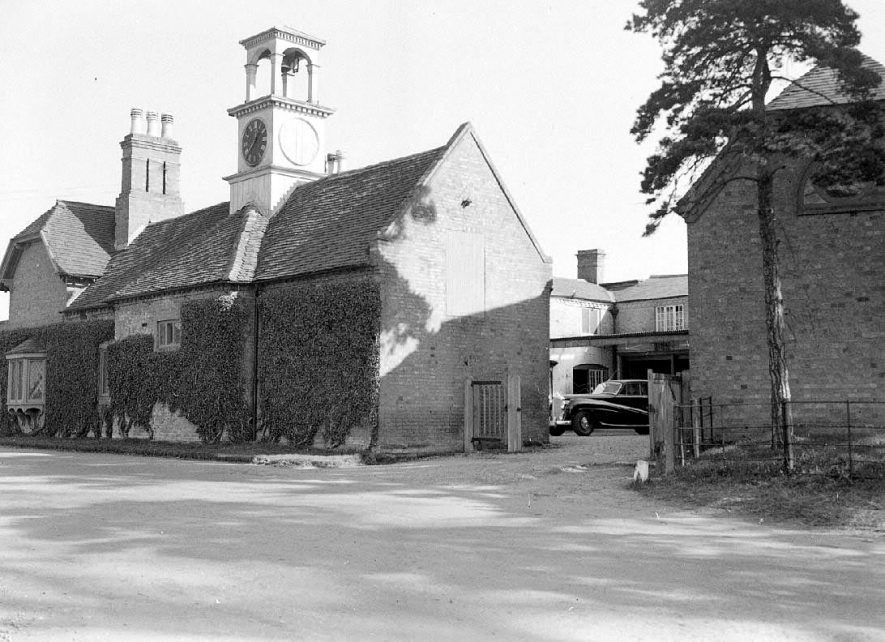 Barford Hill, stables and clock tower, Barford Hill, Barford . 9 March 1953 |  IMAGE LOCATION: (Warwickshire County Record Office)