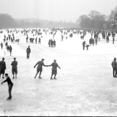 Leamington Spa.  Welch's Meadow, skaters