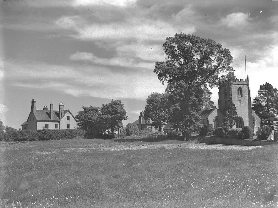 Lillington Church and Manor.  1937 |  IMAGE LOCATION: (Warwickshire County Record Office)