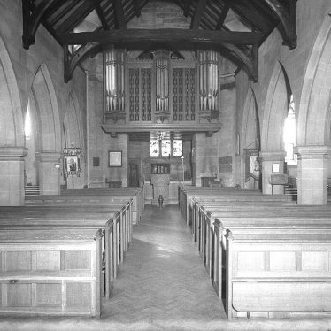 Lillington.  Church interior looking west