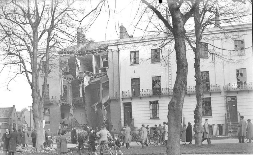 Bomb damage in Dormer Place, Leamington Spa.  1940 |  IMAGE LOCATION: (Warwickshire County Record Office)