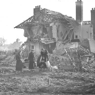 Lillington.  Telford Avenue, bomb damage