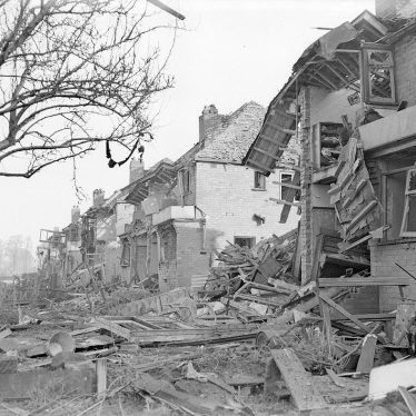 Lillington.  Lonsdale Road, bomb damage