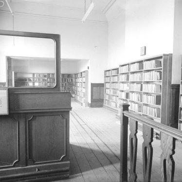 Lillington.  Library, interior