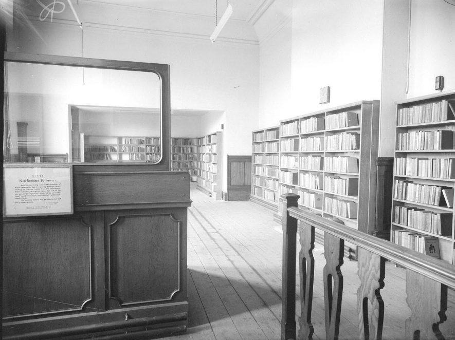 Lillington library interior.  1949 |  IMAGE LOCATION: (Warwickshire County Record Office)