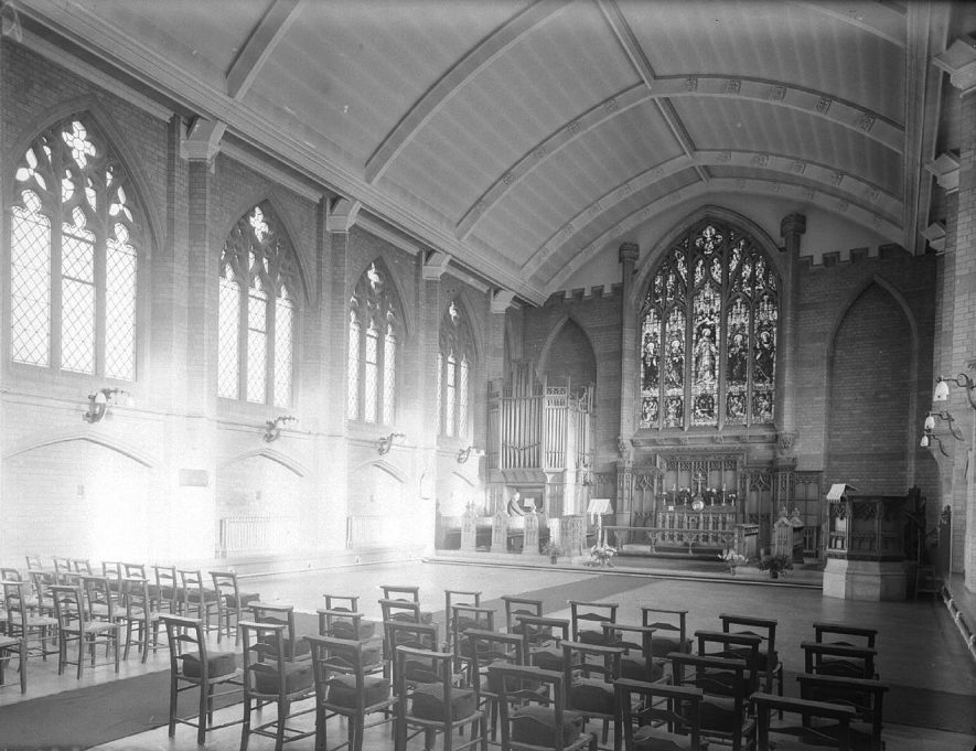 Royal Midland Counties Home chapel interior, Leamington Spa.  1946