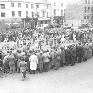 Warwick.  Market Square. Folk Dancing