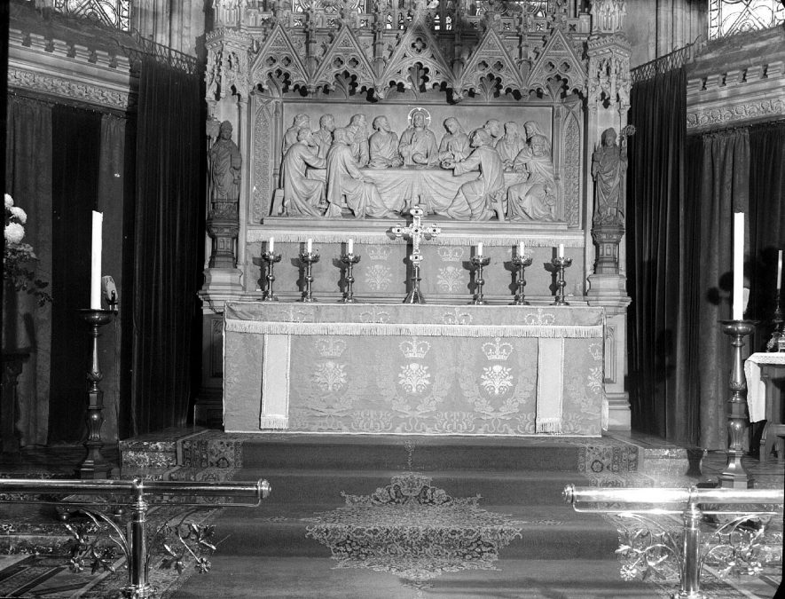 All Saints Parish Church altar frontal, Leamington Spa.  (Presented by Anthony Eden).   1957 |  IMAGE LOCATION: (Warwickshire County Record Office)
