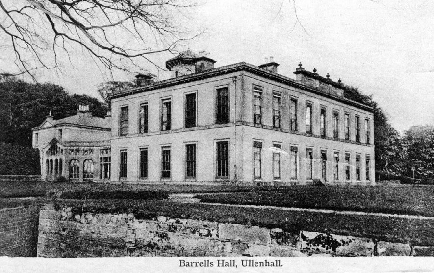 Barrels Hall, Ullenhall.  Showing part of garden.  1910s |  IMAGE LOCATION: (Warwickshire County Record Office)