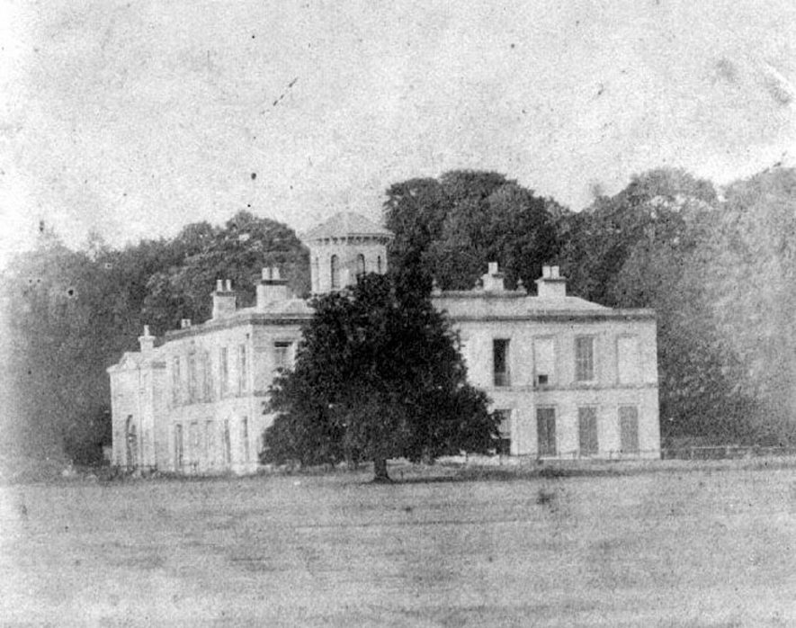 Barrells Hall, Ullenhall, (1860s) Showing the central tower built by 1263. |  IMAGE LOCATION: (Warwickshire County Record Office)
