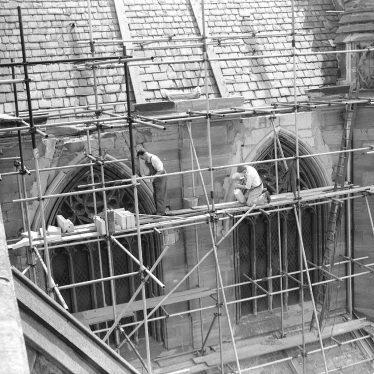 Leamington Spa.  All Saint's Church, repairs