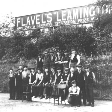 Leamington Spa.  Flavel's, group of workers